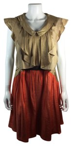 Morine Comte Marant short dress Tan Orange on Tradesy
