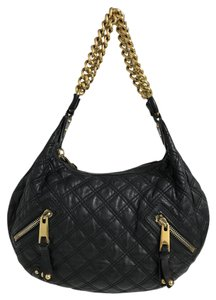 Marc Jacobs Quilted Classic Metallic Hardware Banana Hobo Bag. Marc Jacobs  Large Quilted Banana Black Goat Skin Leather ... d5b94469504d5