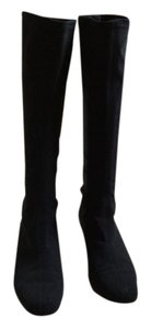 Munro American Comfortable Edgy Stretch Fabric Black Boots