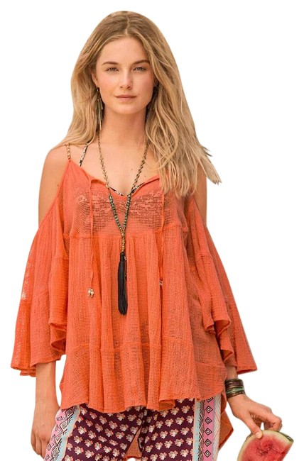 Preload https://img-static.tradesy.com/item/21609161/orange-cold-shoulder-upscale-bohemian-beaded-peasant-blouse-42-b-tunic-size-16-xl-plus-0x-0-1-650-650.jpg