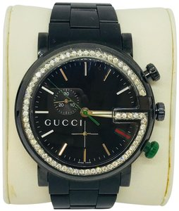 Gucci Gucci 1.3ct 101G YA101331 Diamond Black Dial Stainless Steel Men Watch