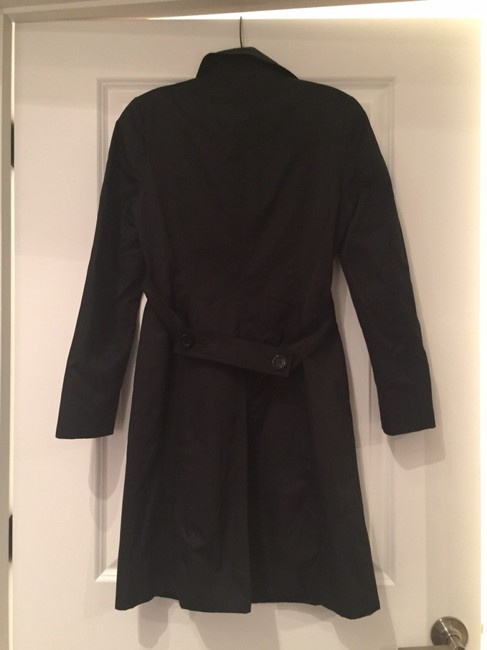 Michael Kors Rain Coat Polyester Black Jacket
