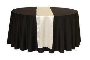 45 Ivory Satin Table Runners