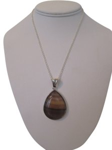 Handmade ARTISAN BROWN SMOKY QUARTZ PENDANT NECKLACE