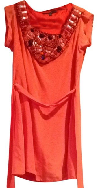 Preload https://img-static.tradesy.com/item/2160955/single-orange-cocktail-dress-size-0-xs-0-0-650-650.jpg