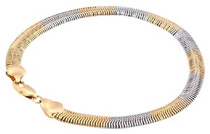 Jared White & Yellow Gold Swirl Ombre Twist Snake Bracelet