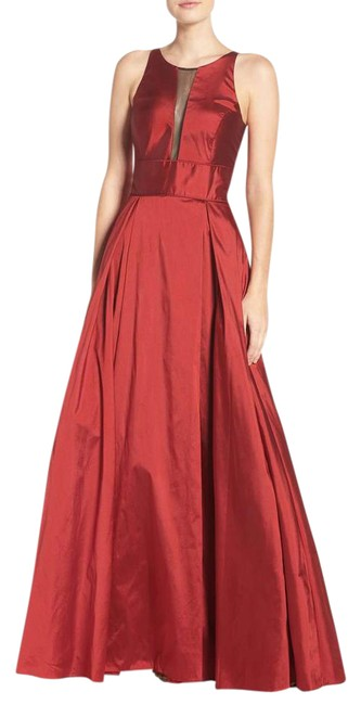 Preload https://img-static.tradesy.com/item/21609655/aidan-mattox-ruby-embroidered-bodice-satin-and-taffeta-strapless-gown-long-formal-dress-size-14-l-0-1-650-650.jpg