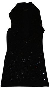 BCBGMAXAZRIA Bcbg Max Azria Sequined Plunge Top Black