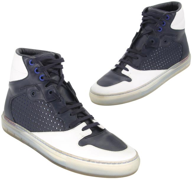 Item - Blue Hi Ball Luxury Pelle S Gomm Craquele Mat High Top Sneakers Size EU 41 (Approx. US 11) Regular (M, B)