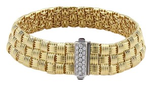 Roberto Coin Appassionata Classic Diamond Three Row Woven Bracelet