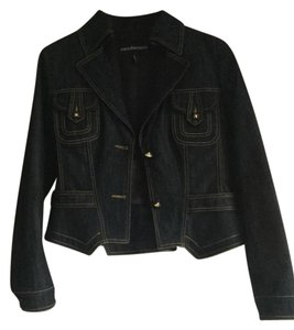 Roccobarocco Jeans Size 12 Navy blue Womens Jean Jacket