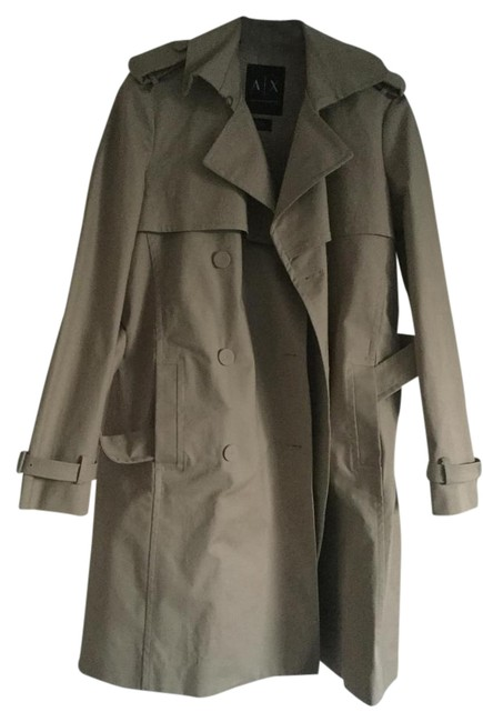 Preload https://img-static.tradesy.com/item/21609978/ax-armani-exchange-sand-trench-coat-jacket-size-12-l-0-2-650-650.jpg