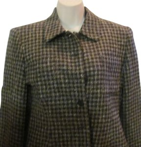 Jones New York Jones New York Plaid Brown Blazer Jacket Sparkle Wool Silk Lined Size 6