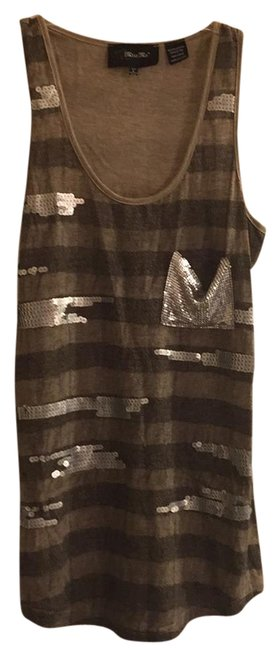 Preload https://img-static.tradesy.com/item/21609993/miss-me-taupe-and-black-sequin-racer-tank-topcami-size-12-l-0-1-650-650.jpg