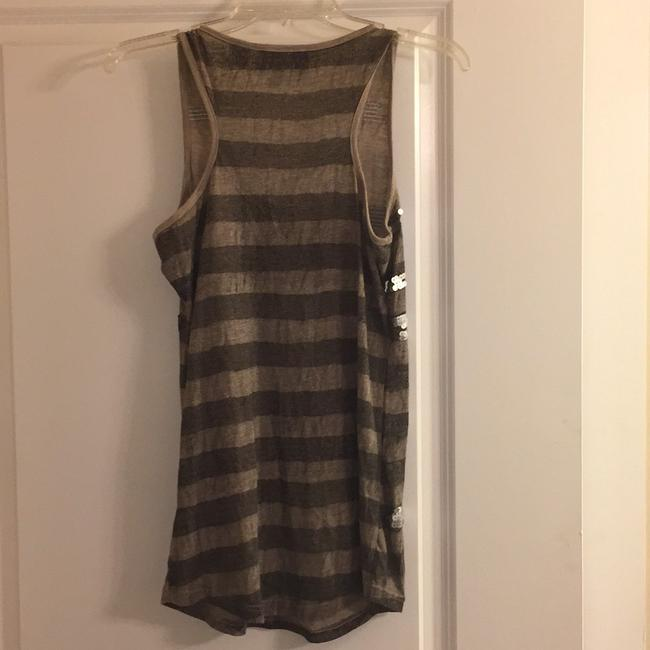 Miss Me Top taupe and black