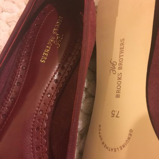 Brooks Brothers burgundy Flats