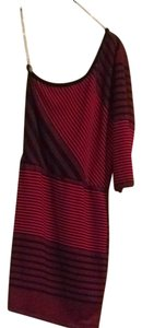 Cherish short dress Red And Black Stripe on Tradesy