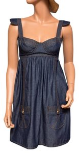 Ingwa Melero short dress Blue 30 Ddm Jean Sexy Bustier on Tradesy