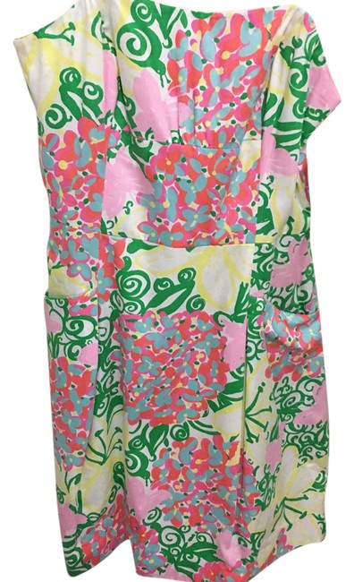 Preload https://img-static.tradesy.com/item/21610288/lilly-pulitzer-yellow-green-pink-and-white-blossom-short-casual-dress-size-4-s-0-1-650-650.jpg