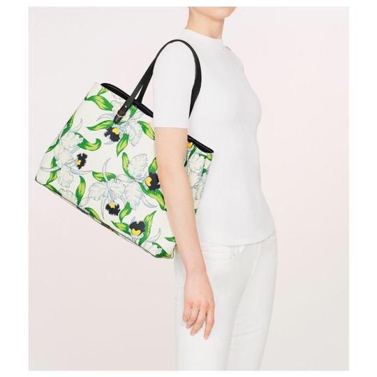 Tory Burch Kerrington Floral Tote in White