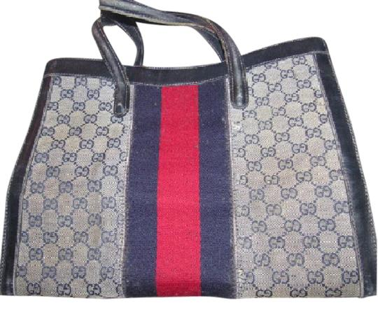 Preload https://img-static.tradesy.com/item/21610549/gucci-boston-vintage-pursesdesigner-purses-shades-of-blue-in-large-g-logo-coated-canvas-and-navy-lea-0-2-540-540.jpg