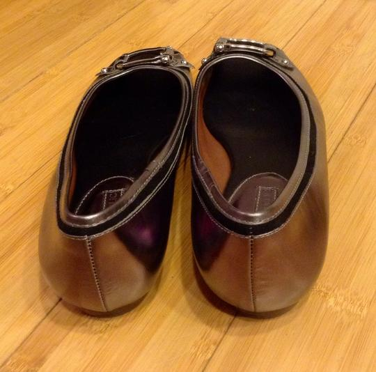 Banana Republic Pewter and Black Leather Flats