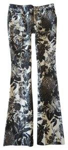 Stella McCartney White Flare Pants Black Floral