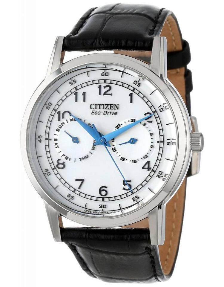 91180c420 Citizen Citizen Men's Eco-Drive Stainless Steel Watch with Black Leather  Strap Image 0 ...
