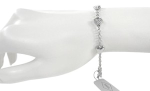 Fossil Fossil JOA00326040 Heart Charms Pave Crystals Silver Chain Bracelet