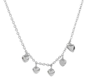 Fossil Fossil JOA00048040 Hearts Pave Crystals Pendant Silver Chain Necklace