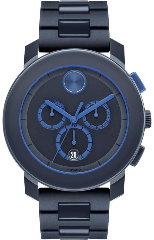 5de93dcf0 Movado Movado Bold Navy Blue Stainless Steel Chronograph Mens Watch 3600270  Image 0