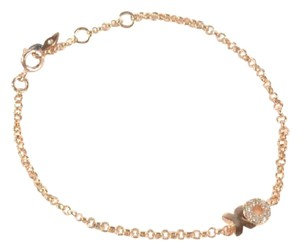 Fossil Fossil JOA00320040 XO Charms Pave Crystals Rose Gold Chain Bracelet