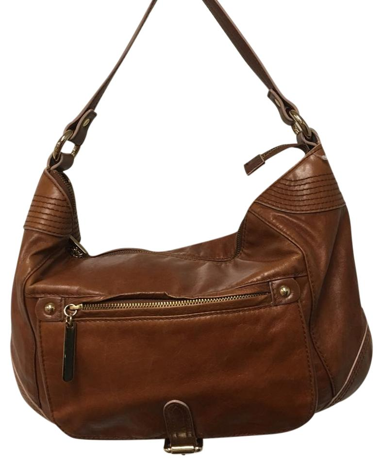 da0143824e70 Via Spiga Camel Leather Hobo Bag - Tradesy