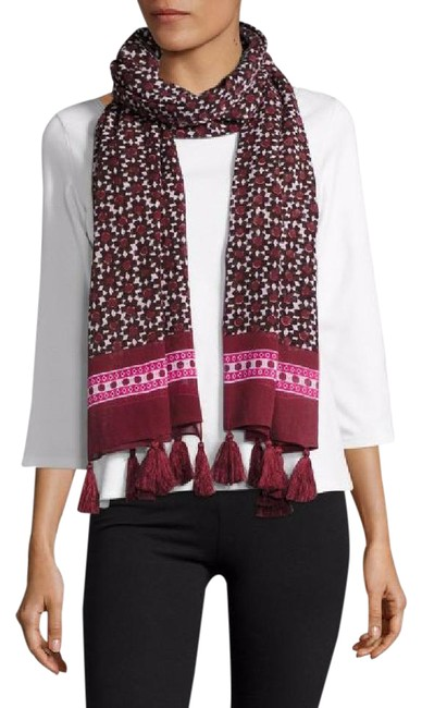 Item - Cocoa 60% Off Floral Tile Oblong Scarf/Wrap