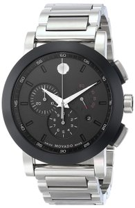 Movado Movado Museum Chronograph Grey Dial Stainless Steel Mens Watch 0606792
