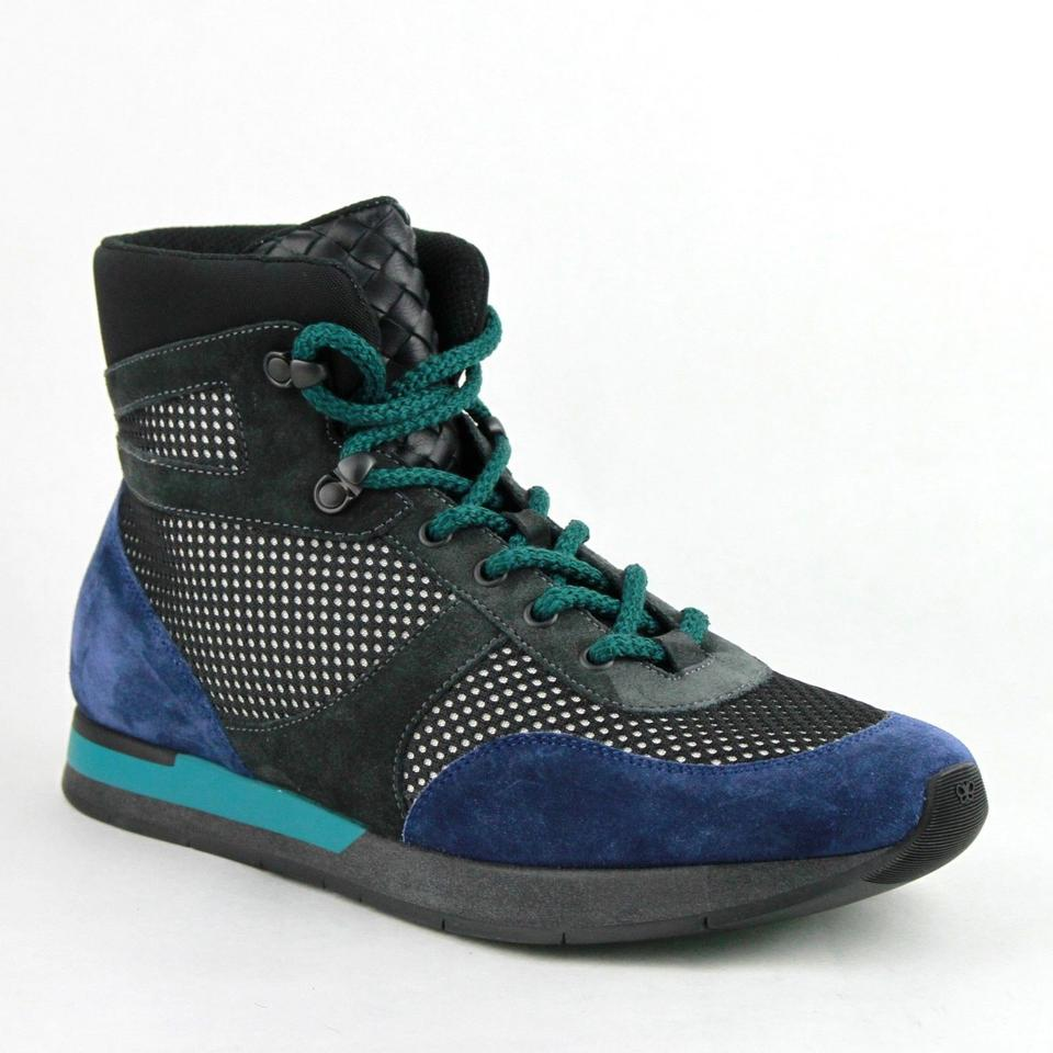 39 Neon Veneta Sneakers Top Blue 8796 High Suede Shoes 6 Us Black Blue Bottega 417024 Leather dvzxqttw