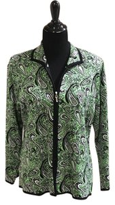 Misook green and black Jacket