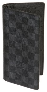 Louis Vuitton Louis Vuitton Gray Damier Graphite Brazza Wallet