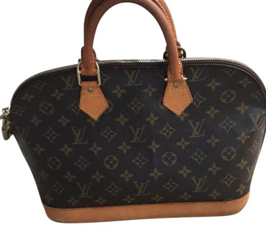 Preload https://item4.tradesy.com/images/louis-vuitton-alma-brown-leather-satchel-21614063-0-1.jpg?width=440&height=440