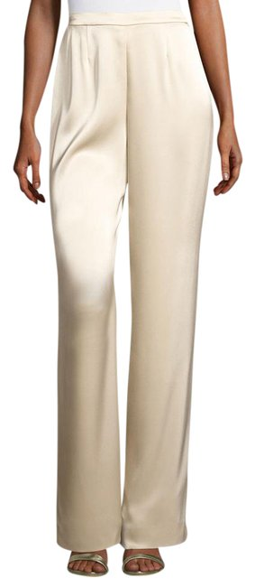 Item - Beige New Couture Classic Shiny Champagne Pants Size 2 (XS, 26)
