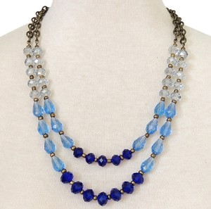 Handmade New Navy Multi Strand Ombre Necklace