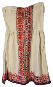 Roxy short dress Ivory and Multi Beaded Smock on Tradesy