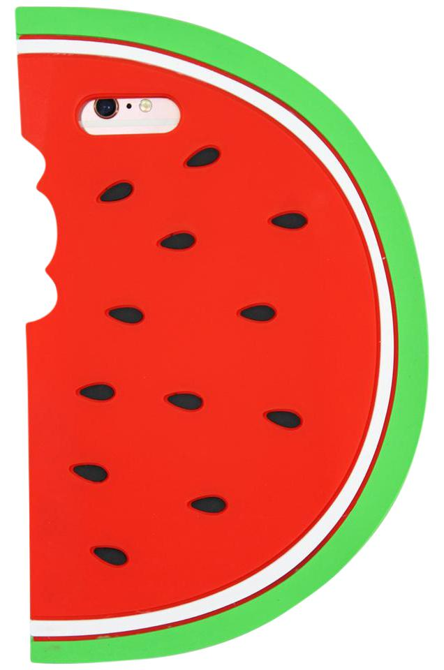 on sale 825ef 29230 Red Silicone Case Watermelon Iphone 6 Plus Tech Accessory 47% off retail