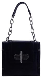 Alexis Hudson Leather Chain Link Chain Turn Lock Small Shoulder Bag