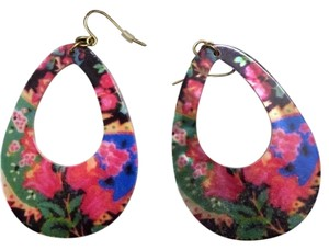 Forever 21 Flower Statement Earrings