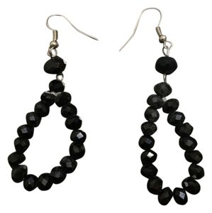 Charming Charlie Black Beaded Earrings