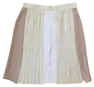 Stella McCartney Mini Skirt white, nude and soft yellow