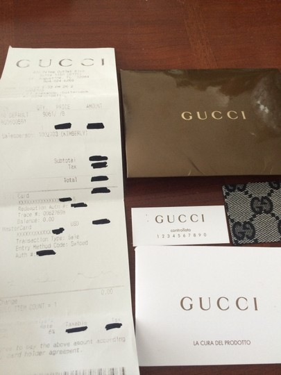 Gucci Signature Charmy Leather Satchel in Black and Grey