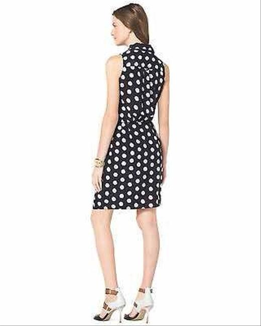 Michael Kors Mk Polka Dot Dots Vintage Blue Blue Blue Dress