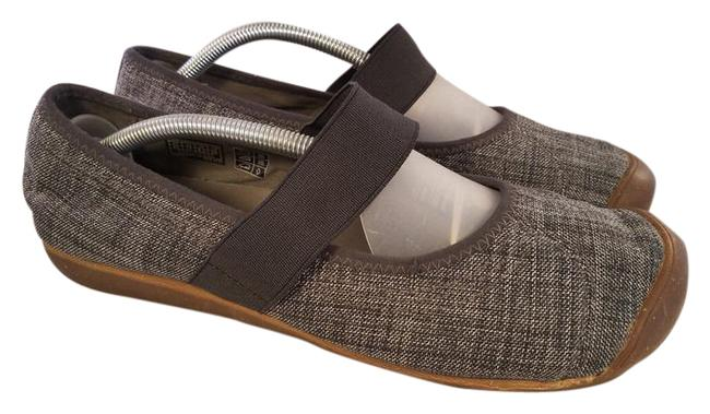 Item - Gray Janes Fabric Wedges Size US 11 Regular (M, B)
